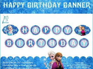 Dây chữ Happy Birthday Frozen