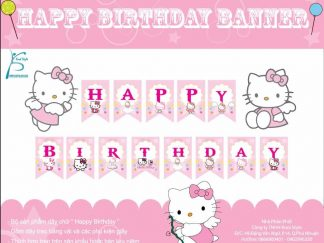 Dây chữ Happy Birthday Kitty