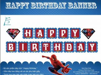 Dây chữ Happy Birthday Spiderman